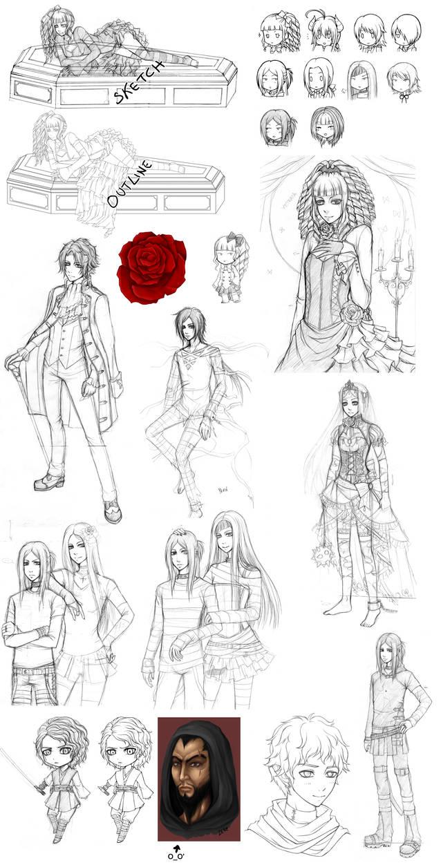 Sketchdump #2 by zero0810