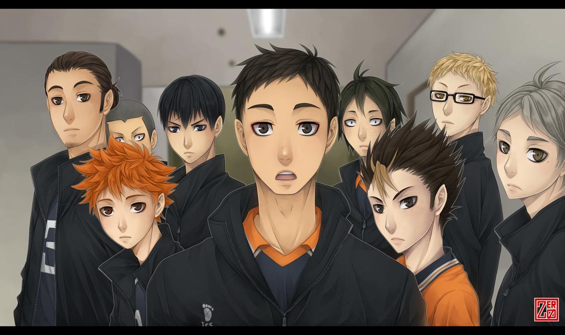 Haikyuu!! screenshot redraw - Karasuno by zero0810