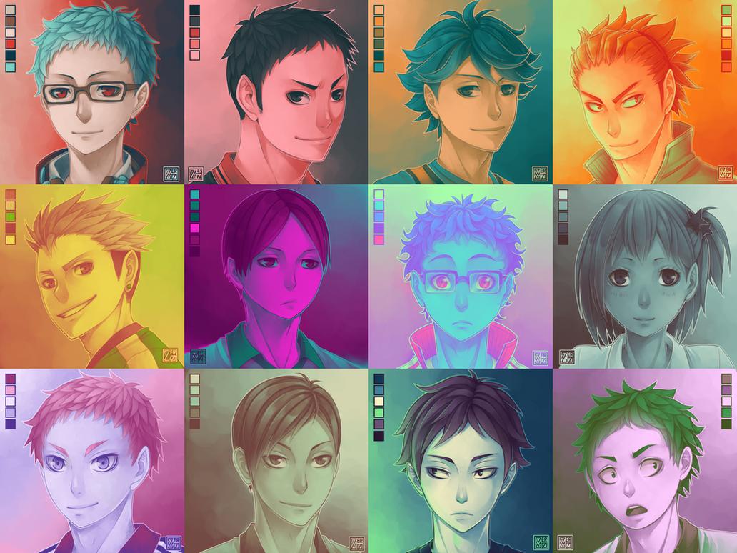 Haikyuu!! - palette challenge (2) by zero0810