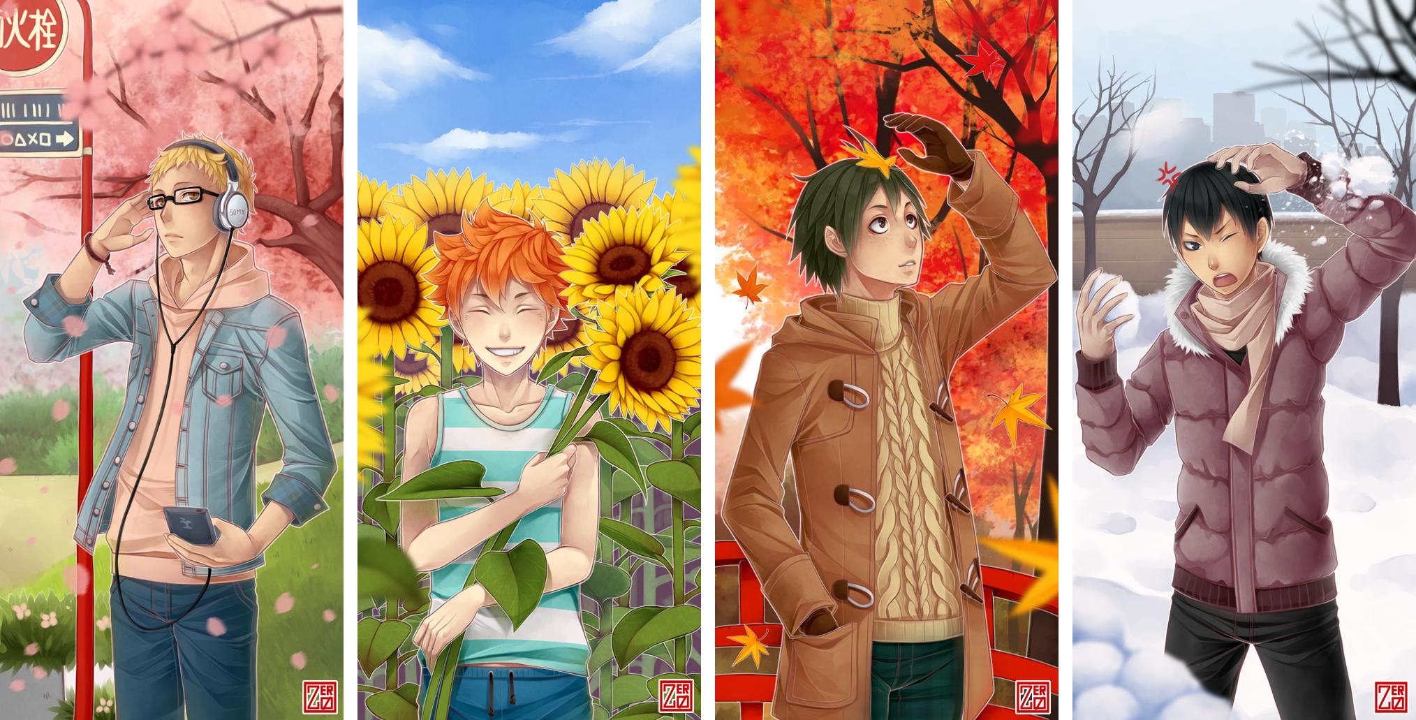 Haikyuu!! - 1st year 4 seasons by zero0810