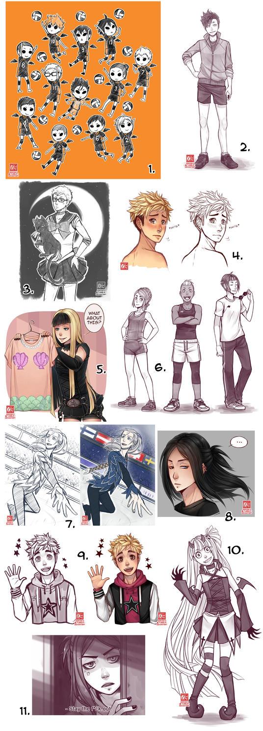 Sketchdump #8 by zero0810