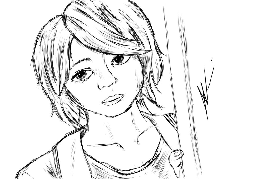 Asian Girl #2 by backslashio