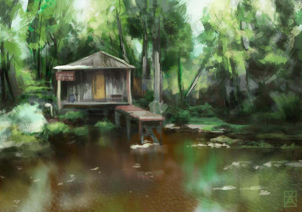 Swamp Hut by kanovsky