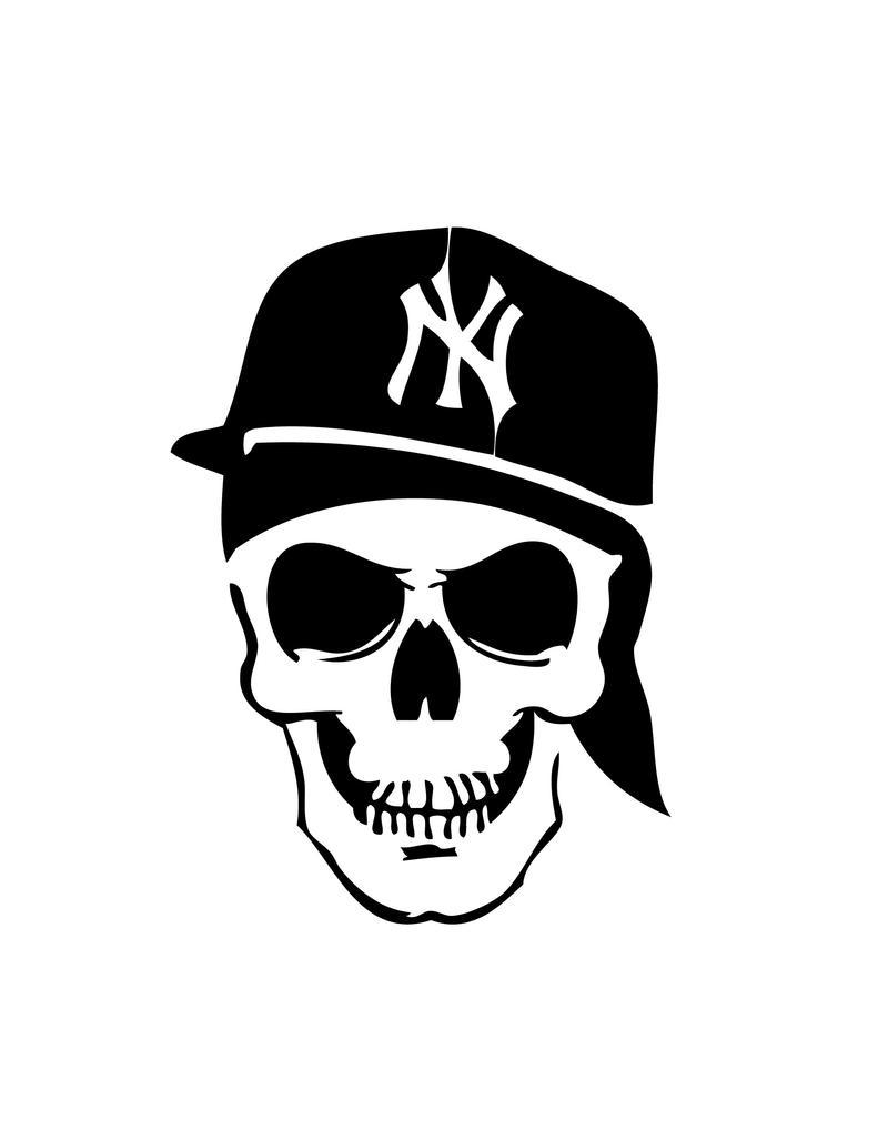 Graffiti Stencils Skull Coka Nostra Stencil by...