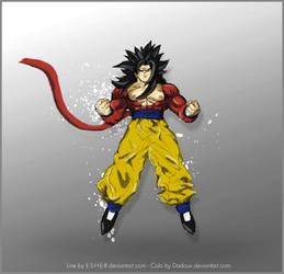Goku ssj4 Color by dadouX