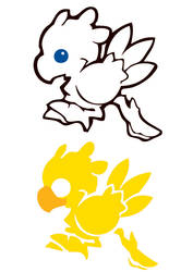 Chocobo's stencil by dadouX