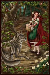 Fairy Tale II Red Riding Hood by MBoulad