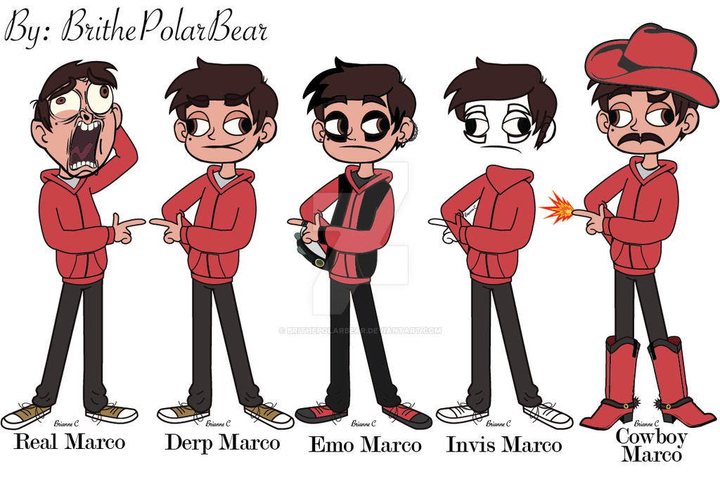 The Different Marco Diaz\'s by BrithePolarBear on DeviantArt