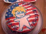 Hetalia America Cake c: