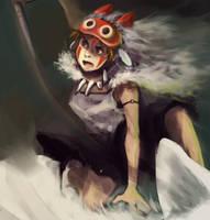 Mononoke Hime by wredwrat