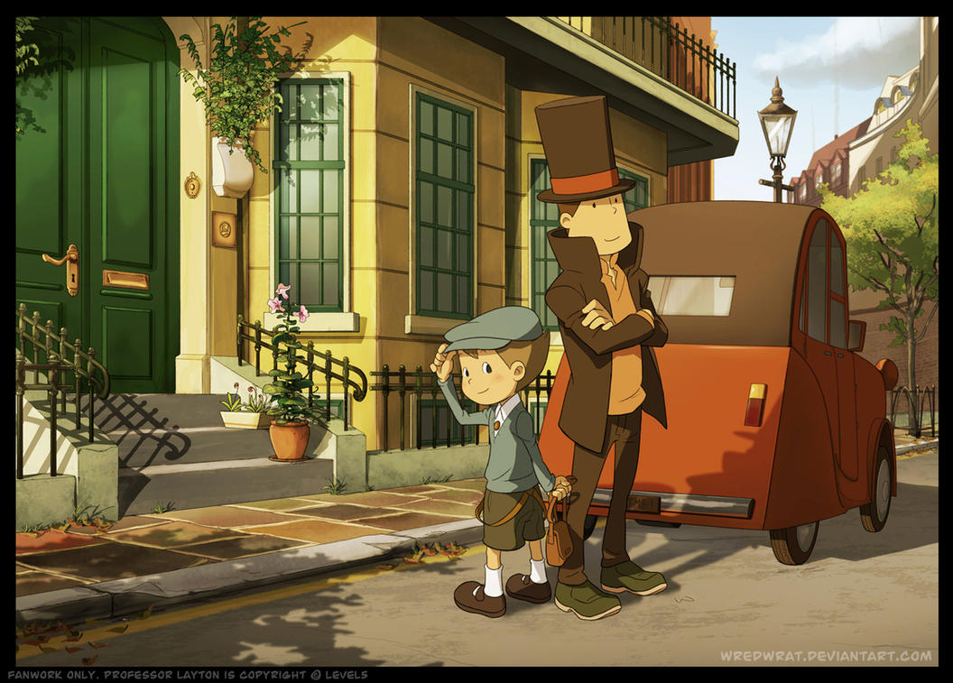 [Sondage] Personnages tiers ou guests Luke_and_Layton_in_London_by_wredwrat