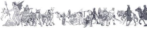 Megaten Demon Parade by wredwrat