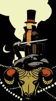Professor Layton Hellboy style by wredwrat
