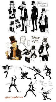 Professor Layton wratstyled