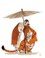 Tiger Twins by wredwrat