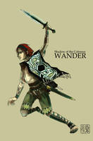 Wander, Shadow of the Colossus by wredwrat