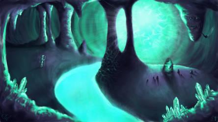 the cavern of aqua essence by geisty