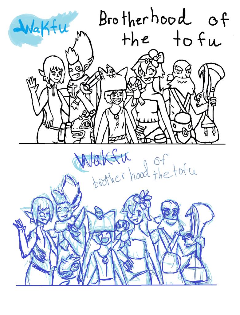 how to draw the brotherhood or the tofu wakfu