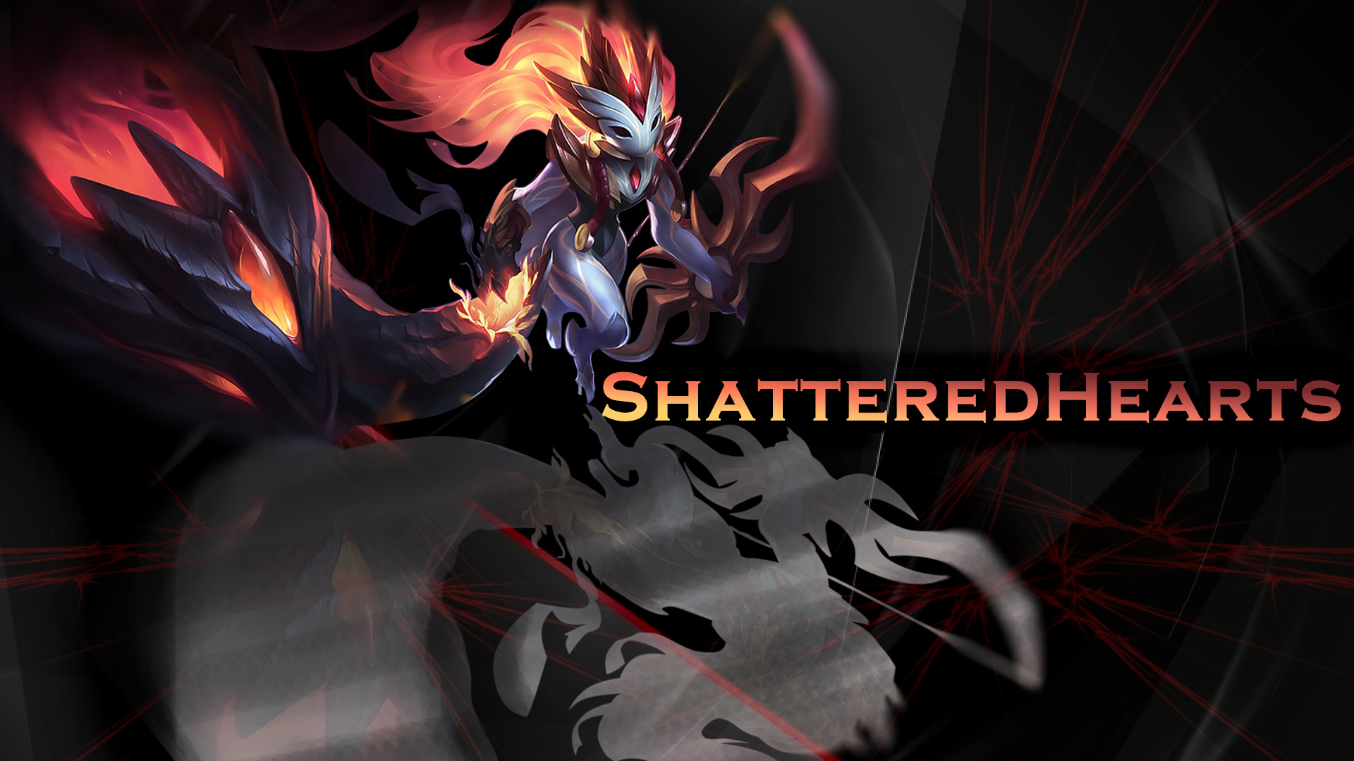 League Of Legends Shadowfire Kindred Wallpaper By Globalsupport On