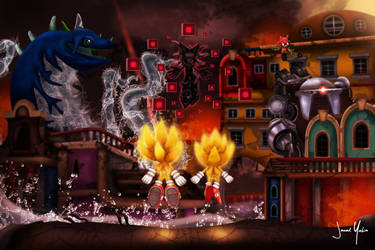 Sonic-Forces Infinite Apocalypse by Glitchfish
