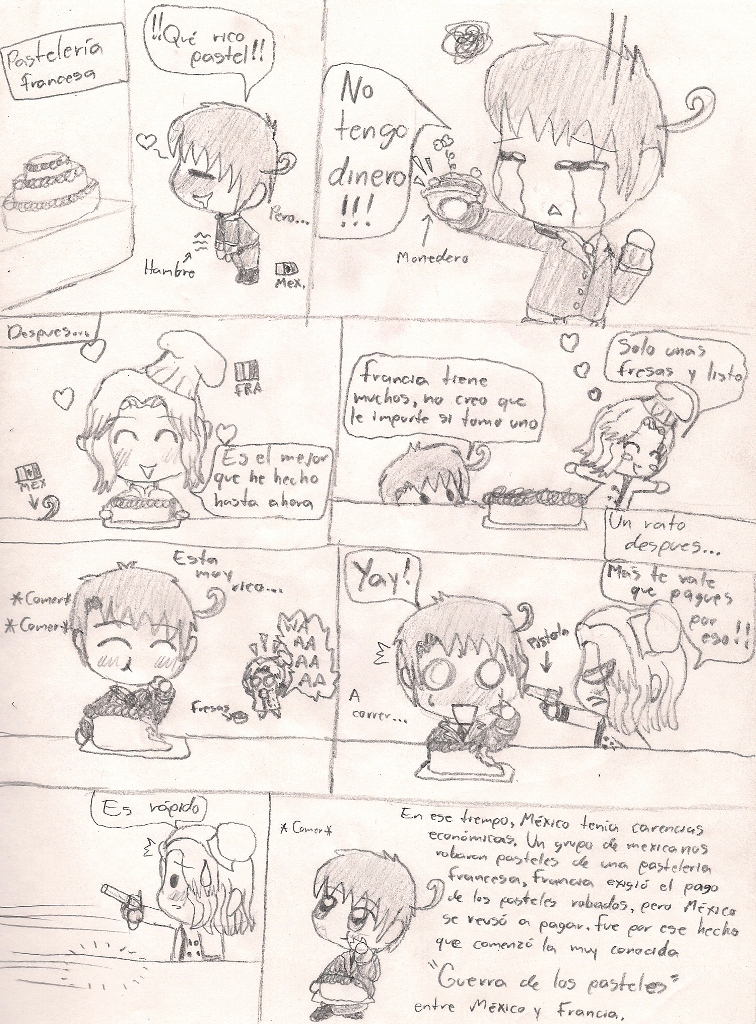 La guerra de los pasteles by Neko-mirichan