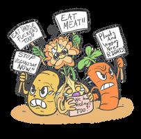 Plants on strike! by Neko-mirichan