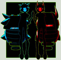 OC: Drone A and Drone B by interpunkt