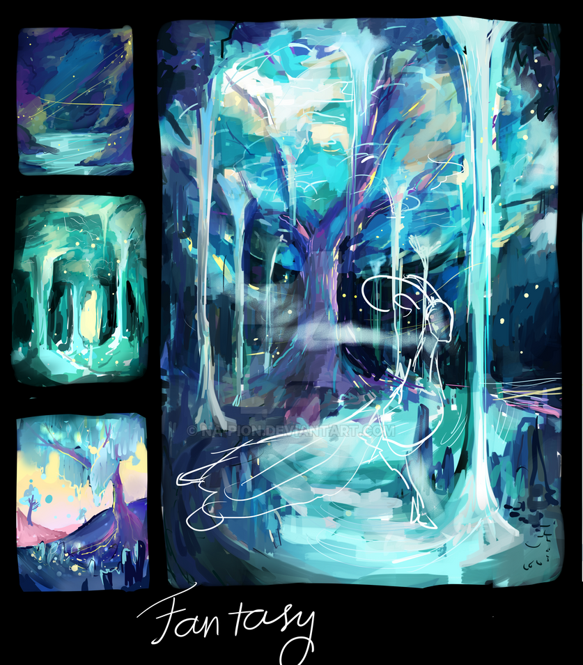 wip - Beneath the ocean forest by Na-pion