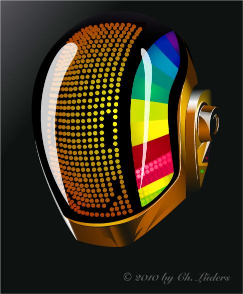 Daft Punk Helmet - New Version by Fleischparade