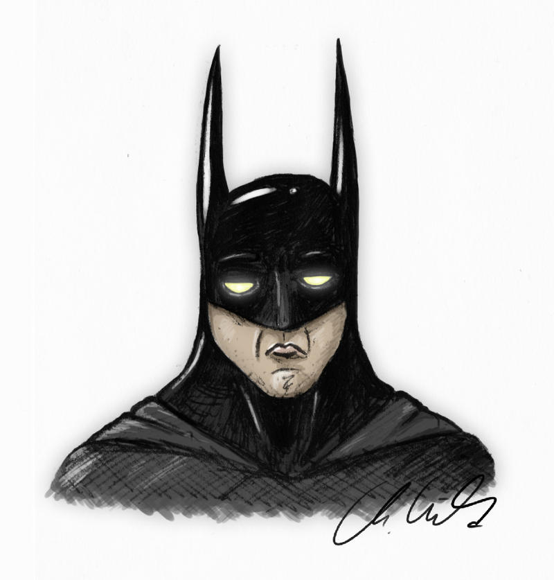 Batman Portrait by Fleischparade