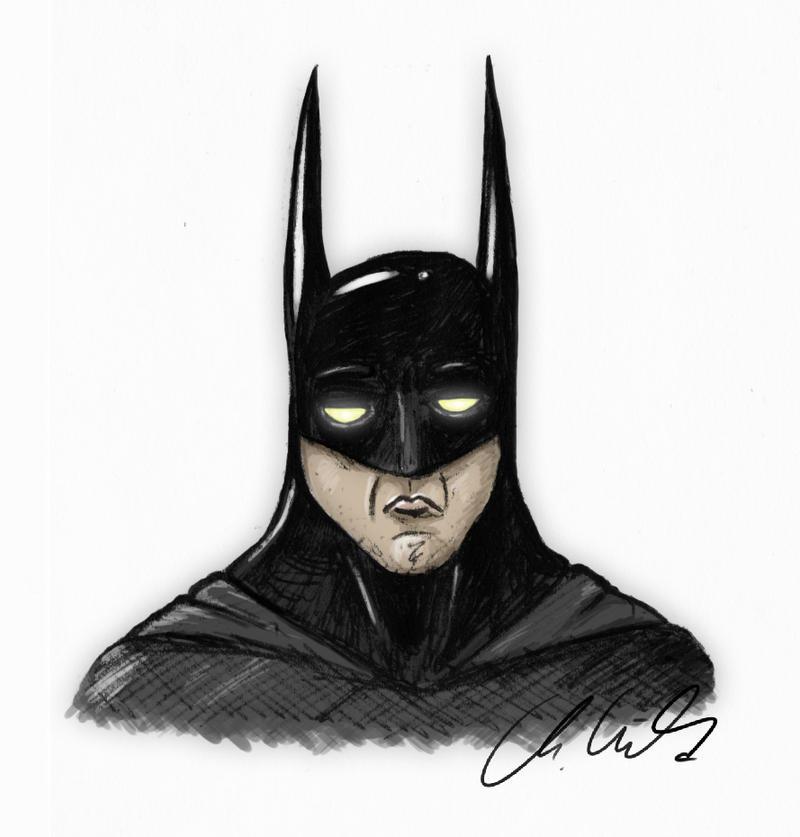 Batman Portrait by Fleischparade