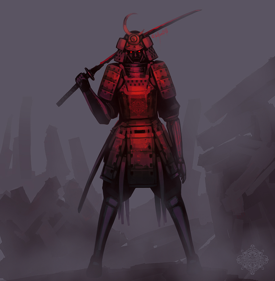 Bloody Bloody RED Samurai by silva018