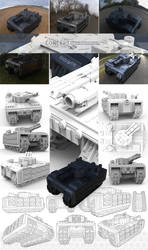 Battle Tank Concept by silva018