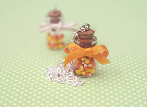Halloween Candy Corn in a Jar