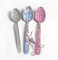Vintage Fabric Teaspoons