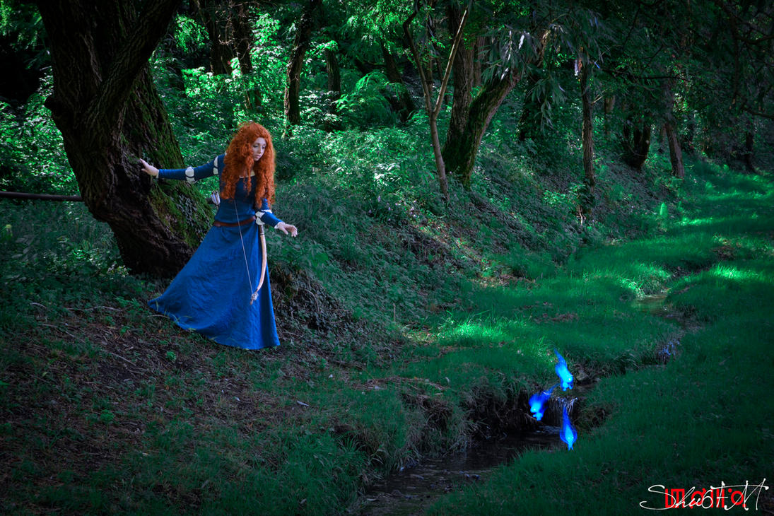 Merida- In the woods - The brave by Neigeamer
