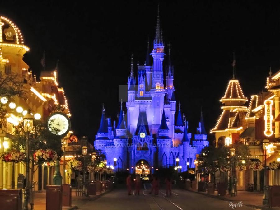 Cinderella Castle Night View by DeyMi