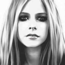 Avril Lavigne acrylic by coxzee