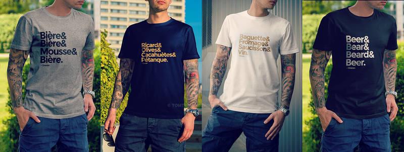 Shirts and shirts and shirts and shirts.