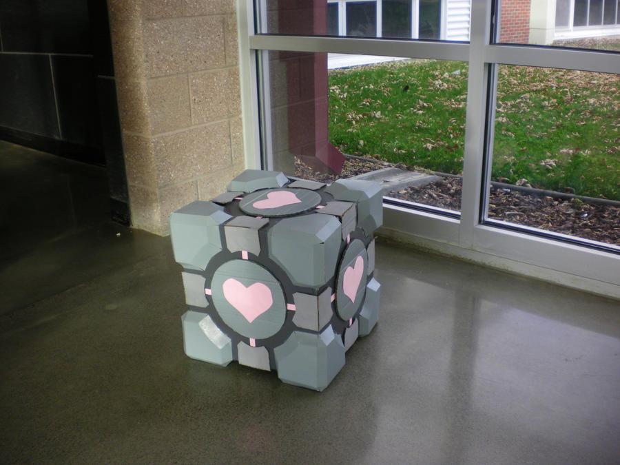 Life Sized Companion Cube by OEmilyThePenguinO