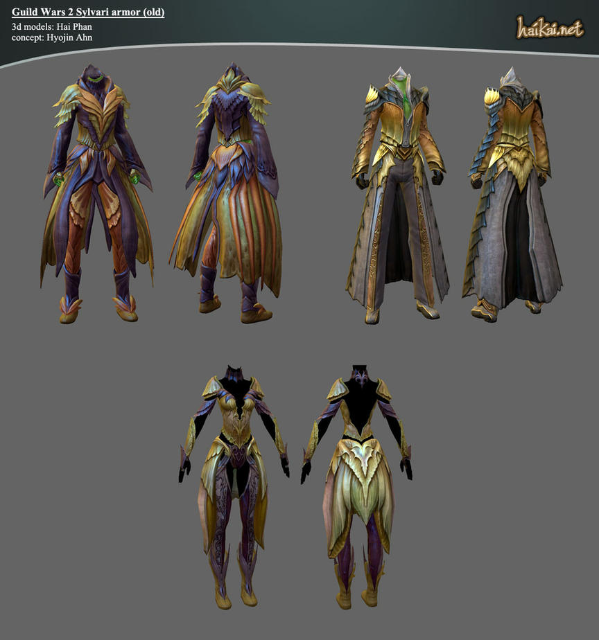 Guild Wars 2 Sylvari Armor Sets by haikai13