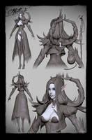 Hella - Goddess of the Dead - Zbrush by haikai13