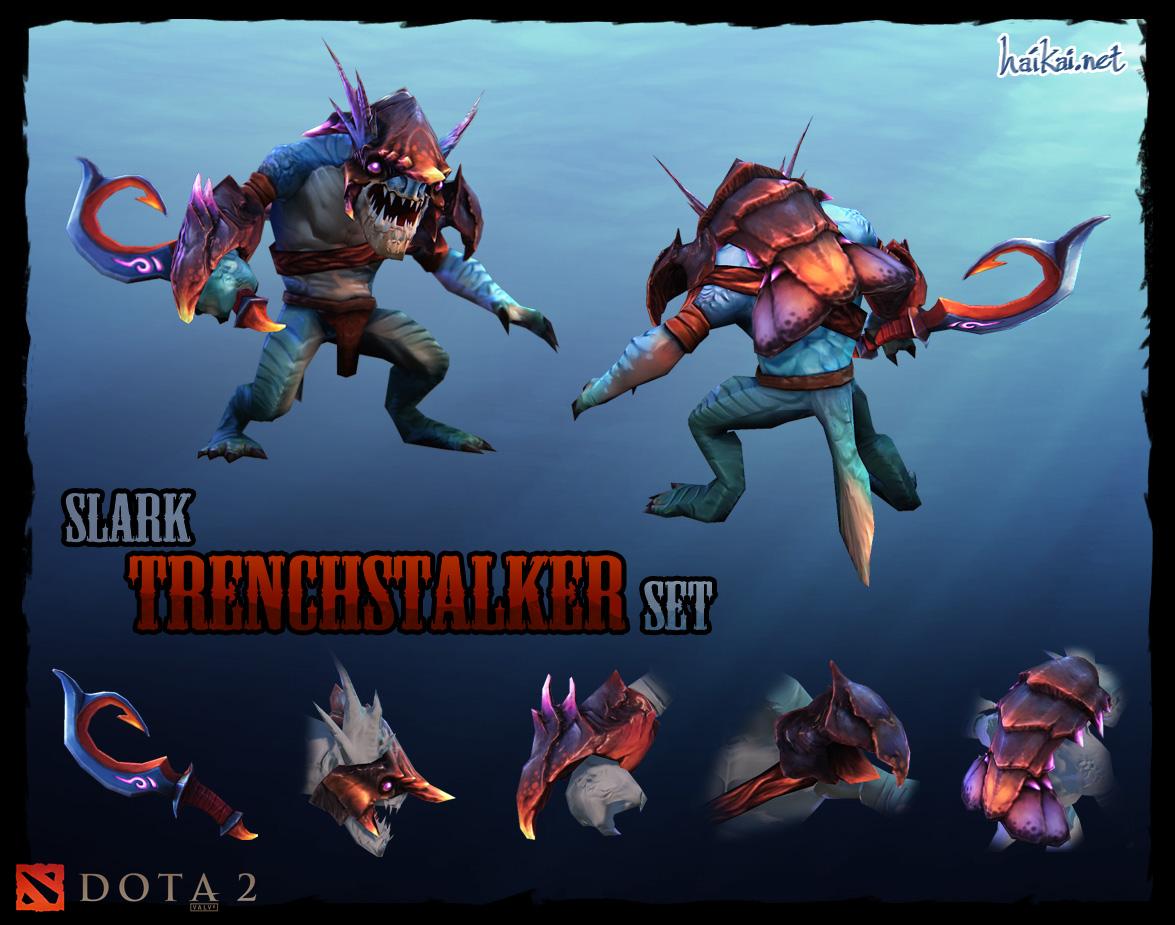 DOTA 2 Slark Trenchstalker set by haikai13