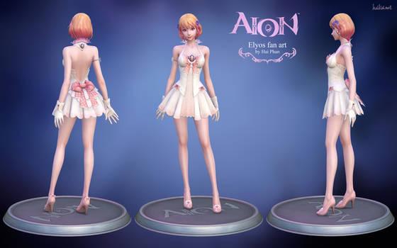 Aion Elyos 3d fan art model