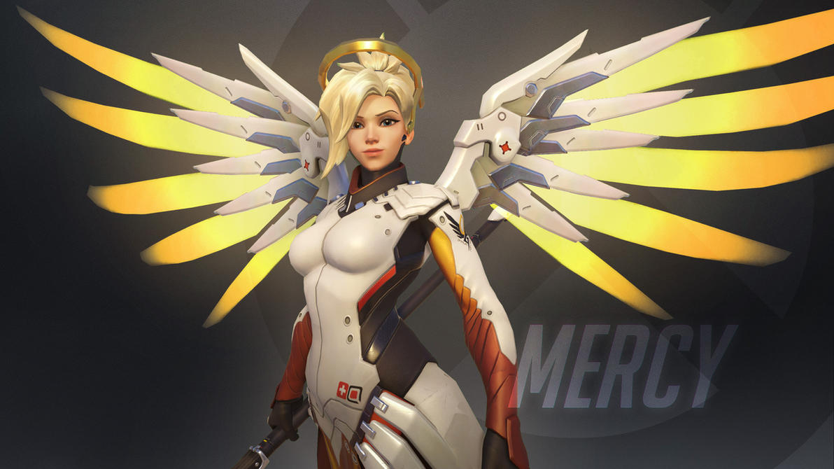 Overwatch Wallpaper: Mercy by haikai13