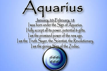 Aquarius card by SheWhoWalksWithThee