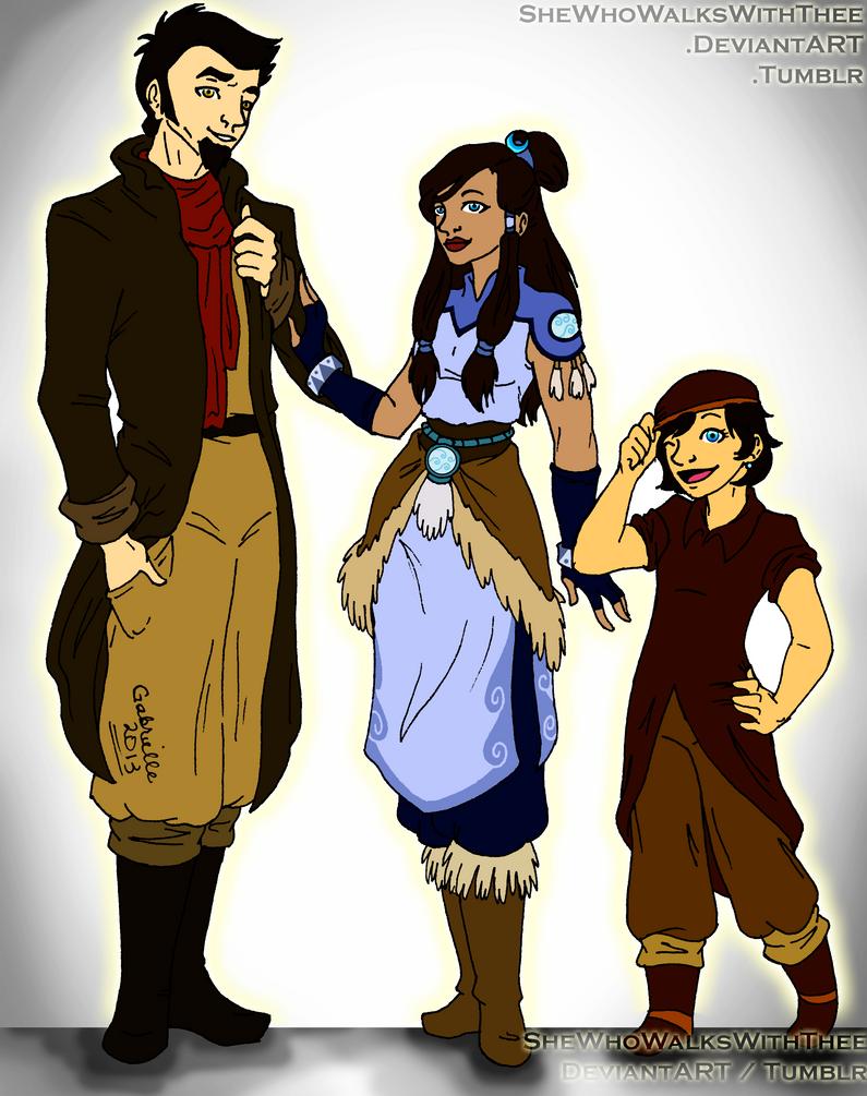 :Makorra: Family Portrait by SheWhoWalksWithThee on DeviantArt