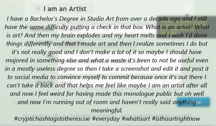 what is an artist? by BWS2K