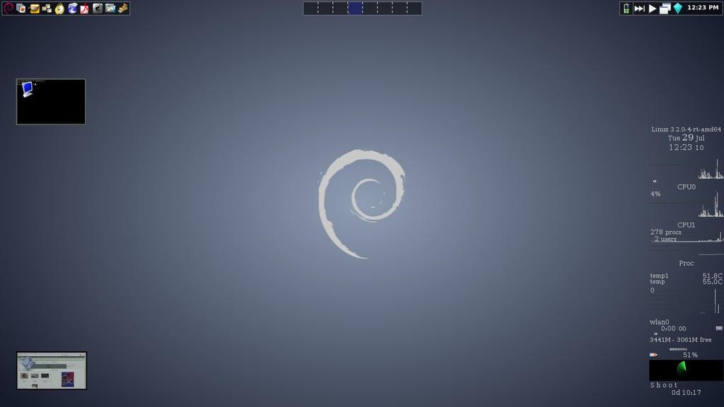 gkrellShoot Debian7.6 FVWM Crystal by artbhatta