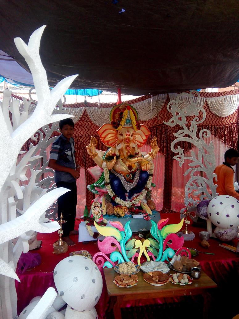 Ganesha festival by artbhatta